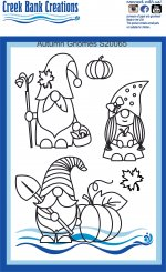 Creek Bank Creations Autumn Gnomes Stamp