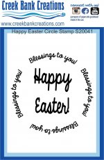 CBC 3x4 Happy Easter Circle stamp