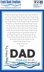 CBC 4x6  Stamp Dad's Shirt