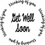 CBC Circle Stamp Get Well Soon