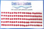 Self Adhesive Pearls Red
