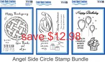ANGEL SIDE CIRCLE STAMP BUNDLE