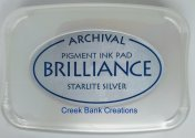 Brilliance Starlite Silver ink pad
