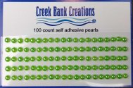 Self Adhesive Pearls Light Green