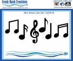 CBC Mini Music Note Die Set