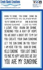 CBC 4x6 stamp Sunshine sentiments