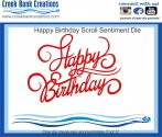 CBC Happy Birthday Scroll Sentiment DIe