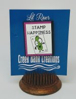 Creek Bank Creations Stamp Happiness Enamel Pin