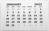 Creek Bank Creations 2022 Calendar Tabs