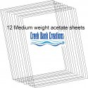 CBC Medium weight Clear Acetate Sheets