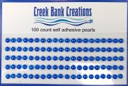 Self Adhesive Pearls Royal Blue