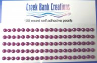 Self Adhesive Pearls Purple