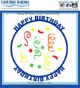 Creek Bank Creations Happy Birthday Circle Frame Die