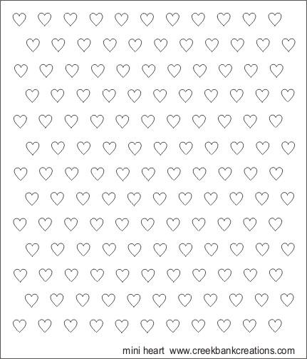 CBC Template Mini Hearts